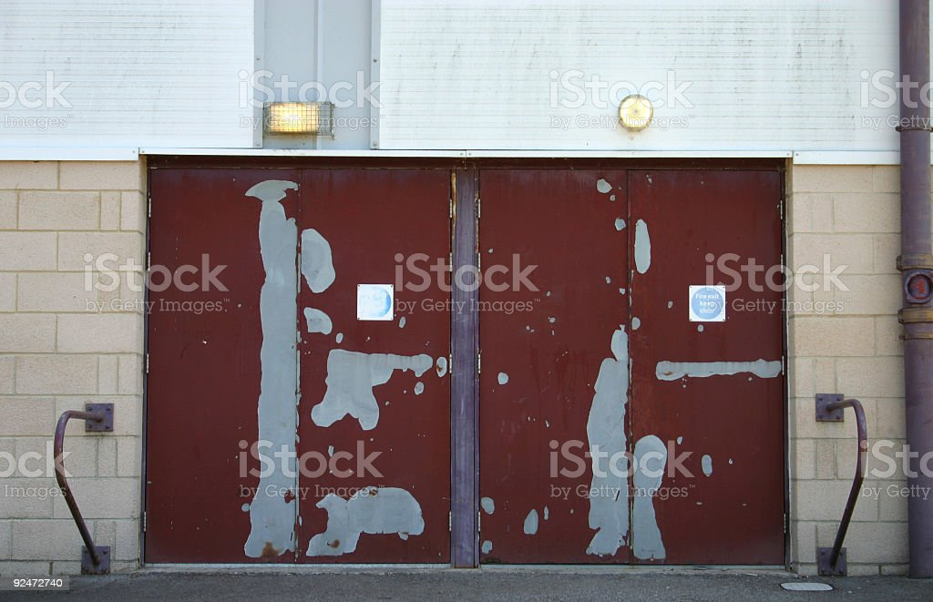 Fire Escape Doors royalty-free stock photo