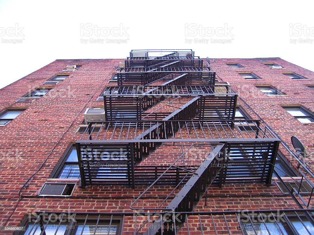 Fire Escape In The Bronx stock photo
