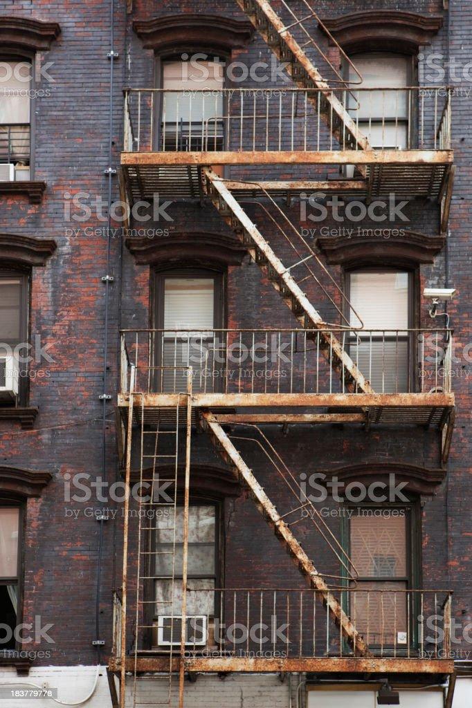 Fire Escape New York City stock photo