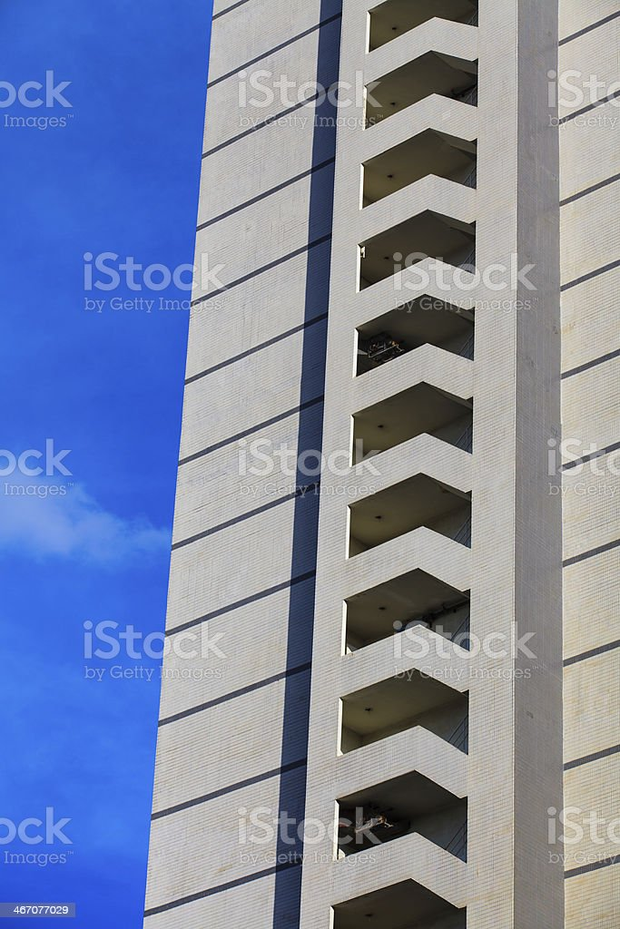 Fire escape on the backside of hotel royalty-free stock photo