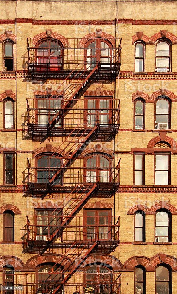 Fire escape stock photo