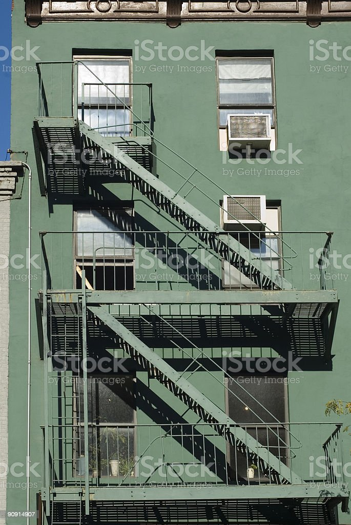 fire escape stock photo