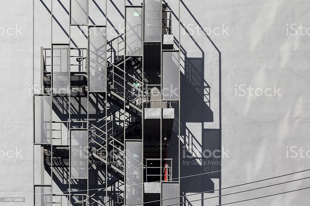 Fire Escape Staircase Outside Of Building Royalty Free Stock Photo