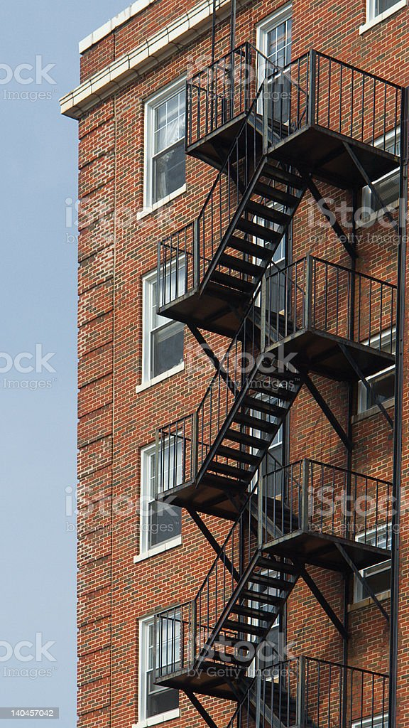 Fire Escape Stairs royalty-free stock photo