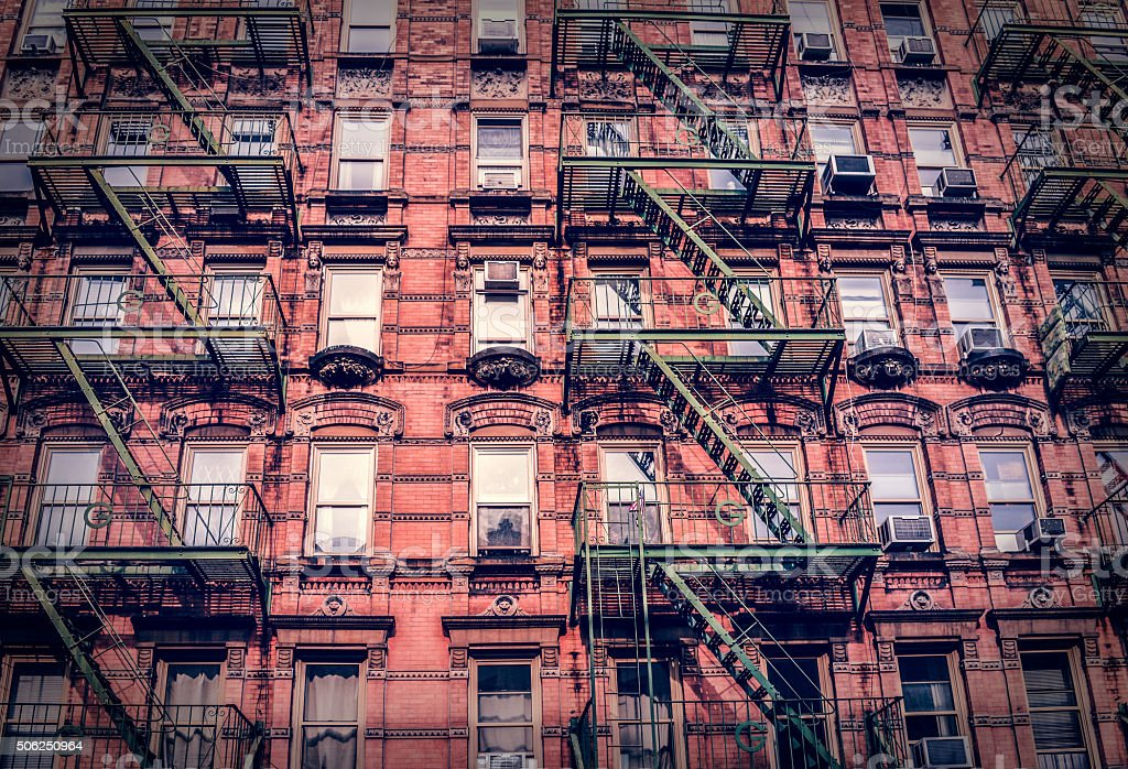 Fire Escapes in New York City stock photo