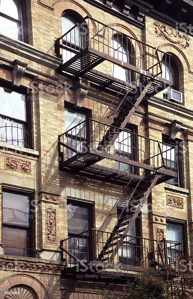 Fire Escapes, NYC stock photo