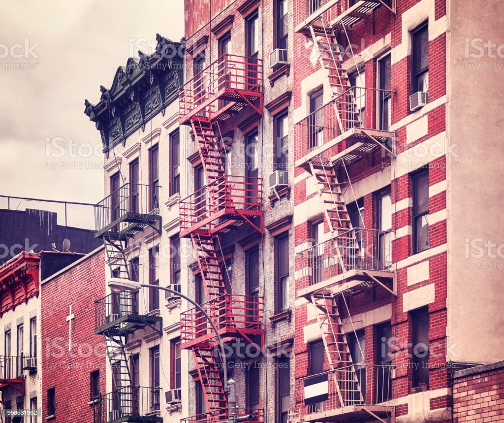 Fire Escapes One Of The New York City Symbols Usa Stock Photo More