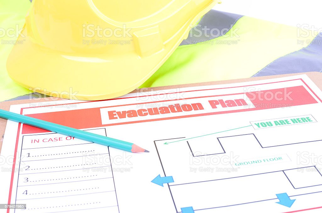 Fire Evacuation Plan stock photo
