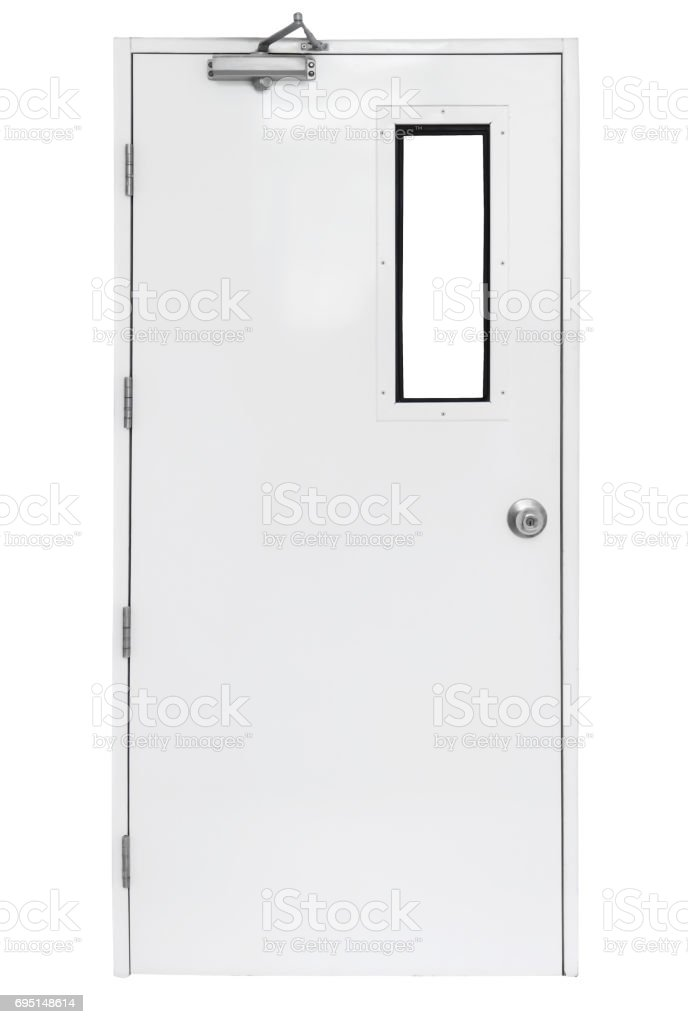 Fire Exit Door In Condominium Or Apartment For Emergency Fire Alarm ...