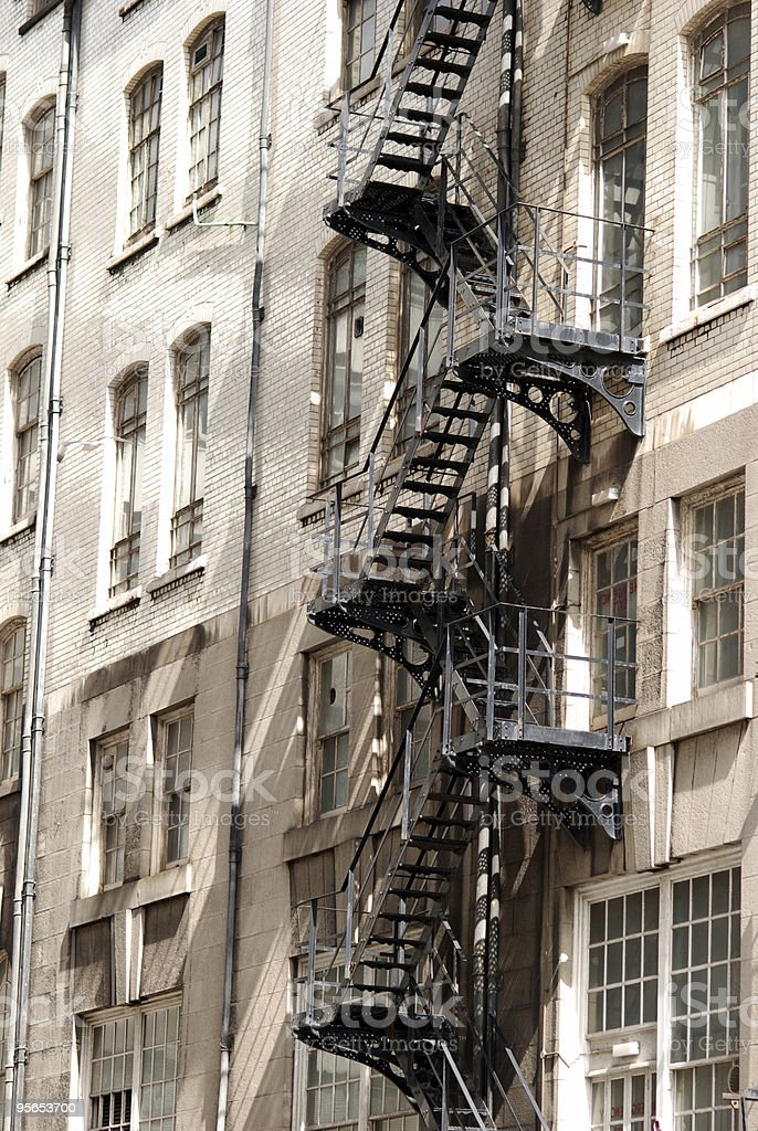 Fire exit emergency stairs royalty-free stock photo