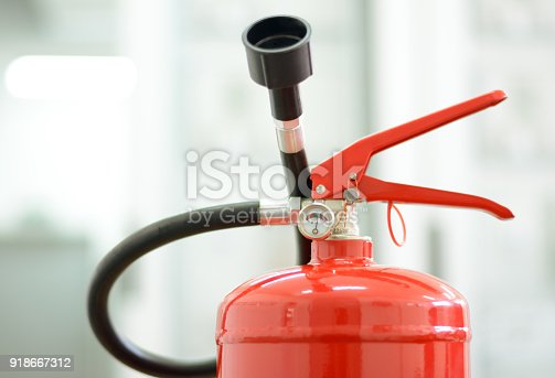Noozle and other equipment on fire extinguisher
