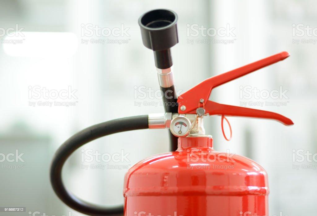 Feuerlöscher-Anatomie. Sprühdüsen für Feuer Löschanlagen – Foto