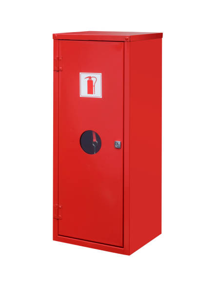 Fire Extinguisher Cabinet stock photo