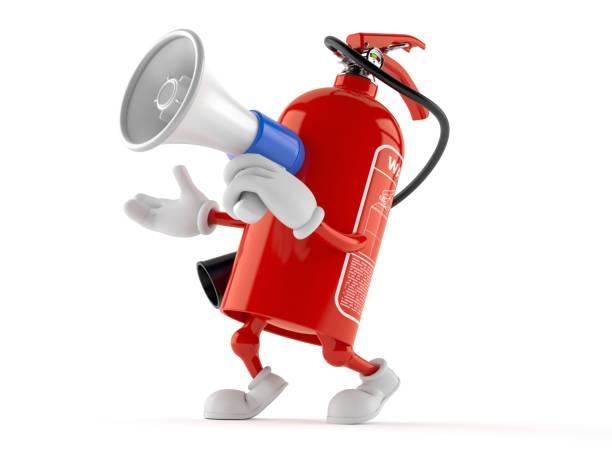 Fire extinguisher character speaking through a megaphone picture id998200734?b=1&k=6&m=998200734&s=612x612&w=0&h=tdkue4pdc 2blg5suqqbzpytxhnrgjmyjrojza f ta=