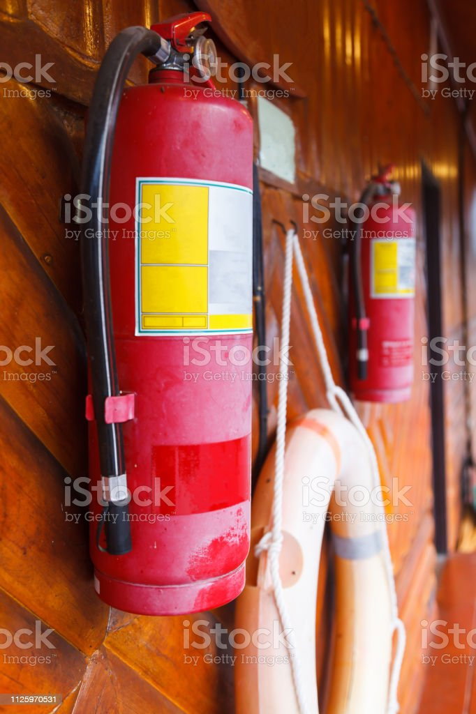 Fire Extinguisher, fire protection device used in emergency situation...