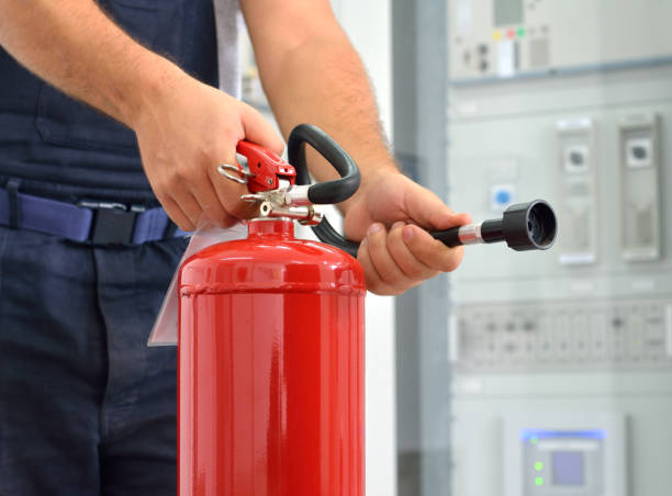 Feuerlöscher in Aktion – Foto