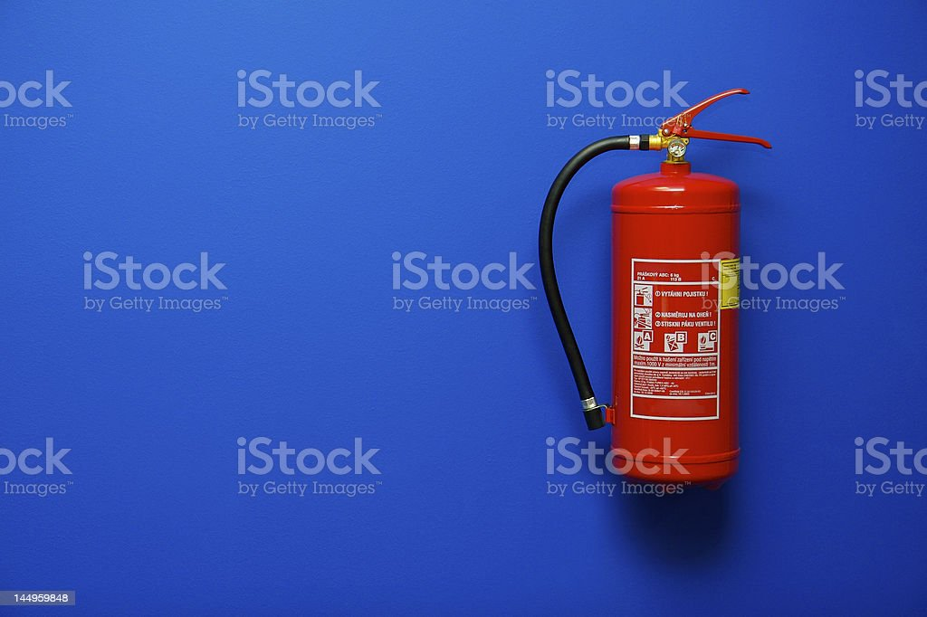 Fire Extinguisher in Office stock photo