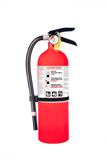 Fire Extinguisher Isolated On White Stock Photo - Download Image Now