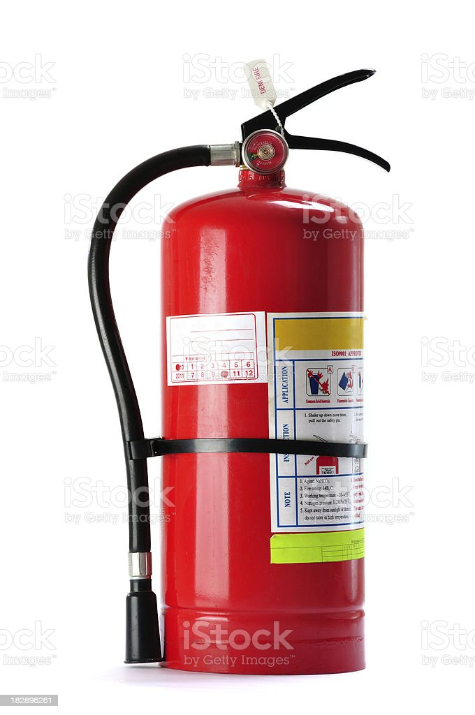 Fire extinguisher, isolated stock photo