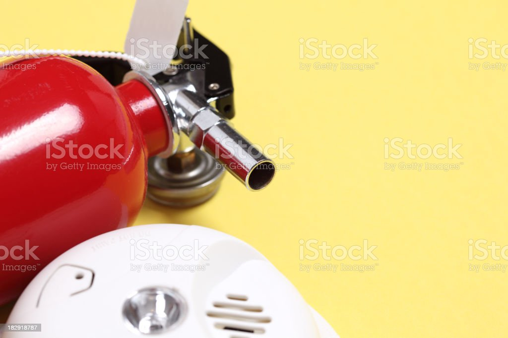 fire extinguisher outdoor royalty-free stock photo