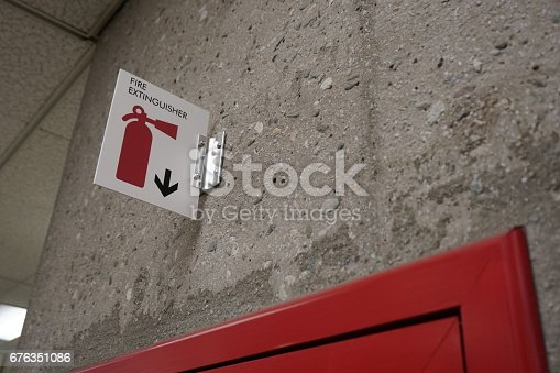 A shot of a fire extinguisher.