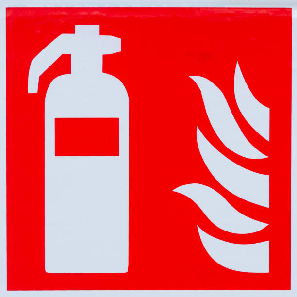 Royalty Free Silhouette Of A Symbol For Fire Extinguisher Pictures
