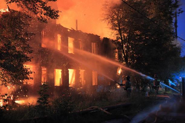 fire extinguishing stock photo