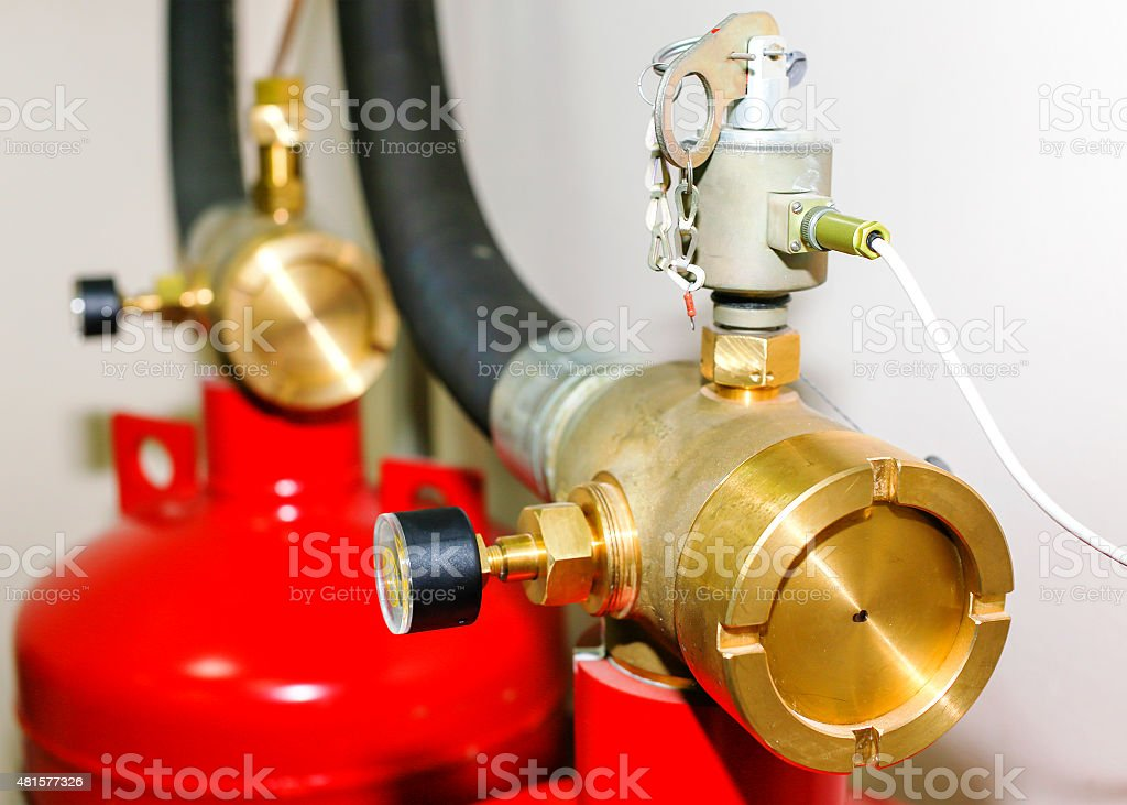 fire extinguishing system in the office stock photo