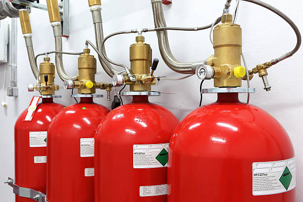 fire extinguishing system - exploitation stock photos and pictures