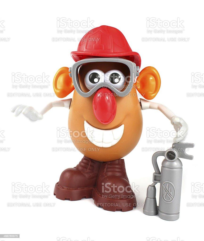 Fire Fighter Mr Potato Head from Hasbro stock photo