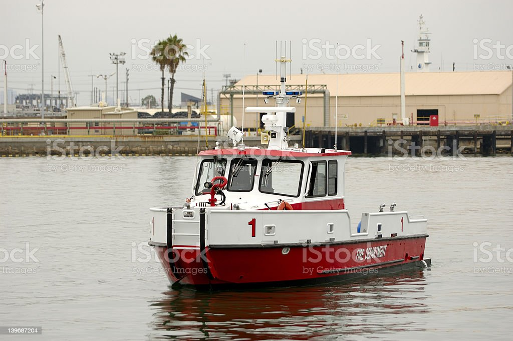 Fire Fighting Boat royalty-free stock photo