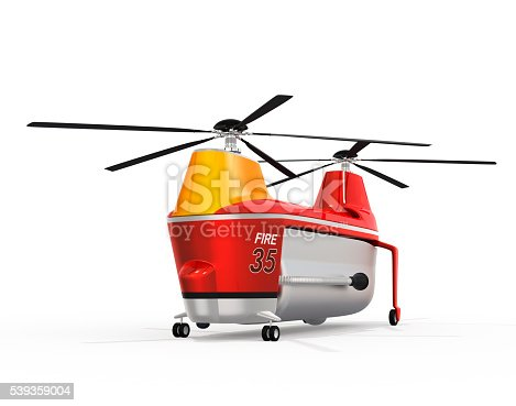 istock Fire fighting drone on the ground 539359004
