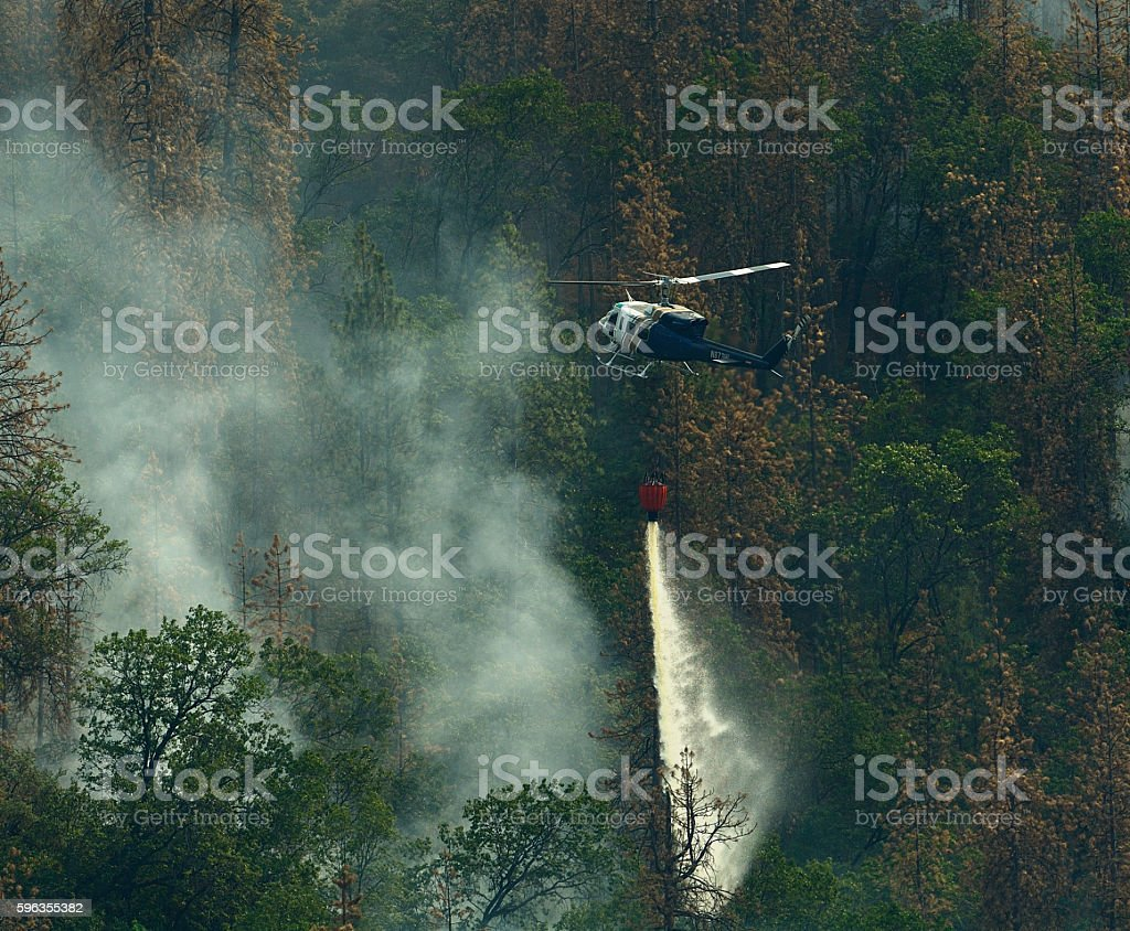 Fire Fighting Helicopter royalty-free stock photo