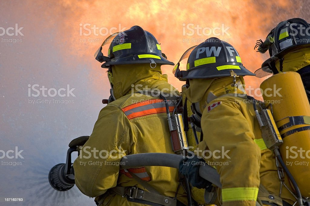 Fire Fighting stock photo