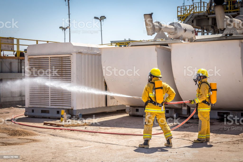 Fire Fighting stock photo