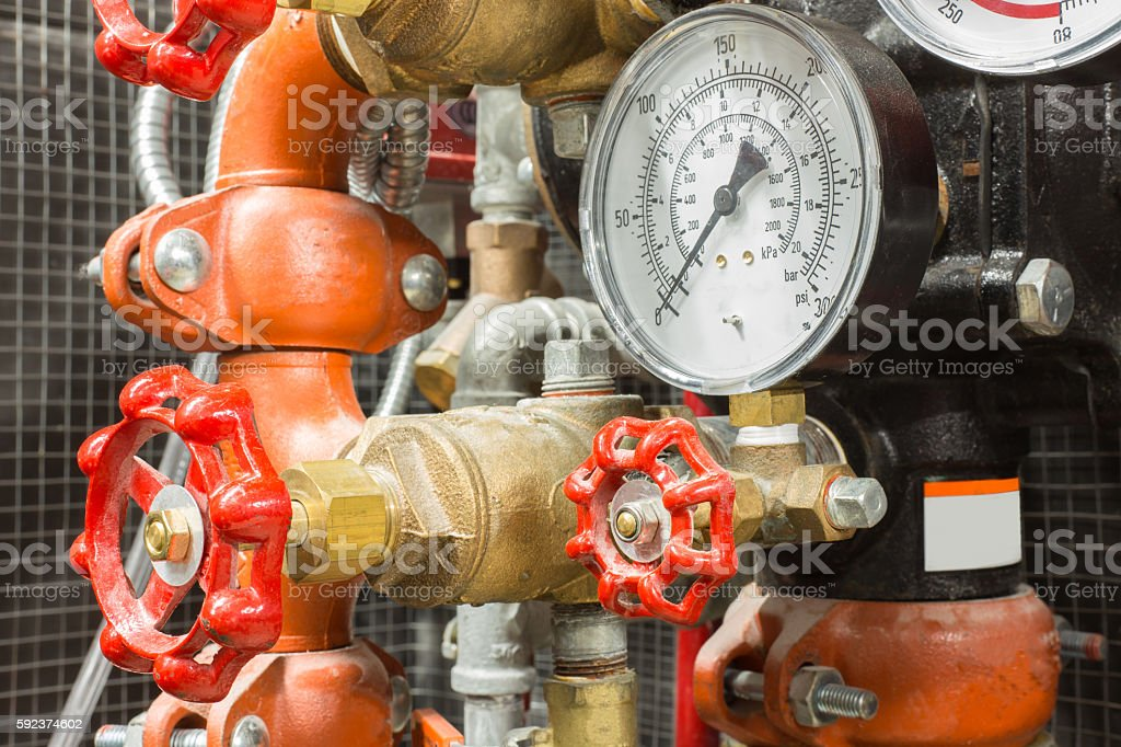 fire fighting system stock photo