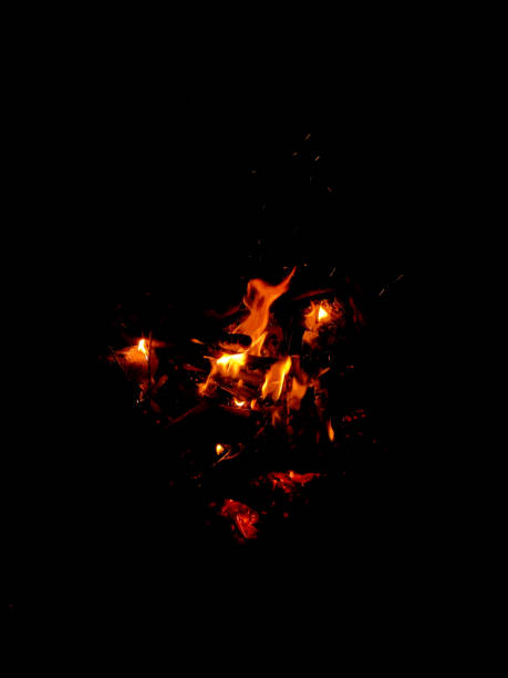 fire flame isolated on black - deign stock pictures, royalty-free photos & images