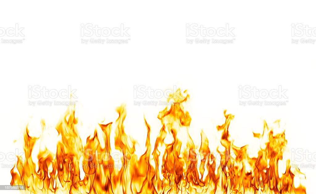 fire flame isolated over white background stock photo