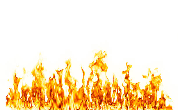 fire flame isolated over white background - 火焰 個照片及圖片檔