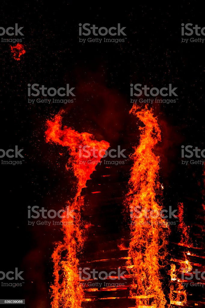 Fire flame spark royalty-free stock photo