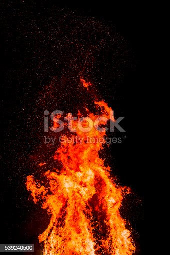Fire Flame Spark Stock Photo & More Pictures of Abstract
