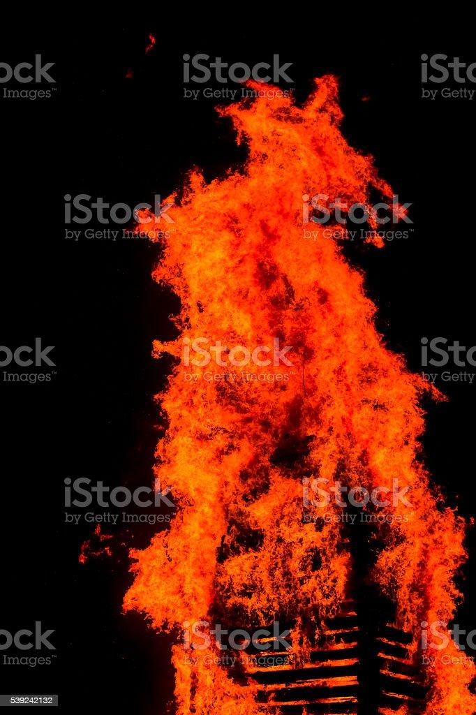Flama de fuego chispa foto de stock libre de derechos