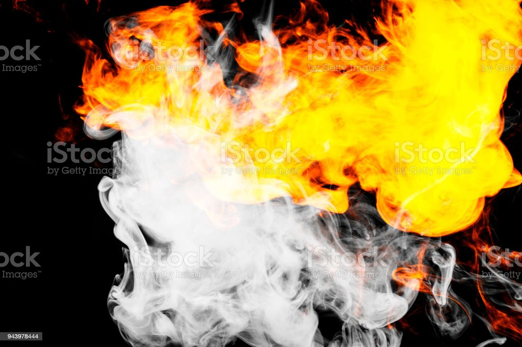 Fire flames background. stock photo