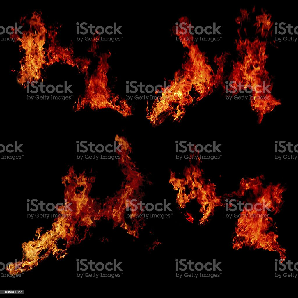 Fire flames collection royalty-free stock photo