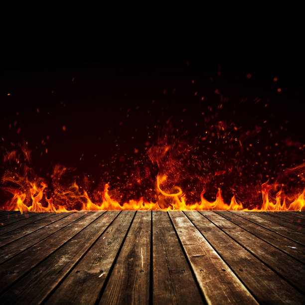 fire flames isolated on black - flame stock pictures, royalty-free photos & images