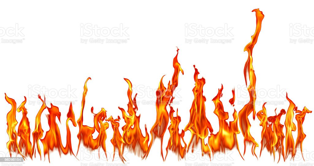 fire flames isolated over white background royalty-free stock photo