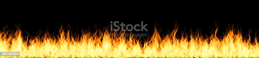 istock Fire Flames on Black Background. Includes Copy Space 831554068