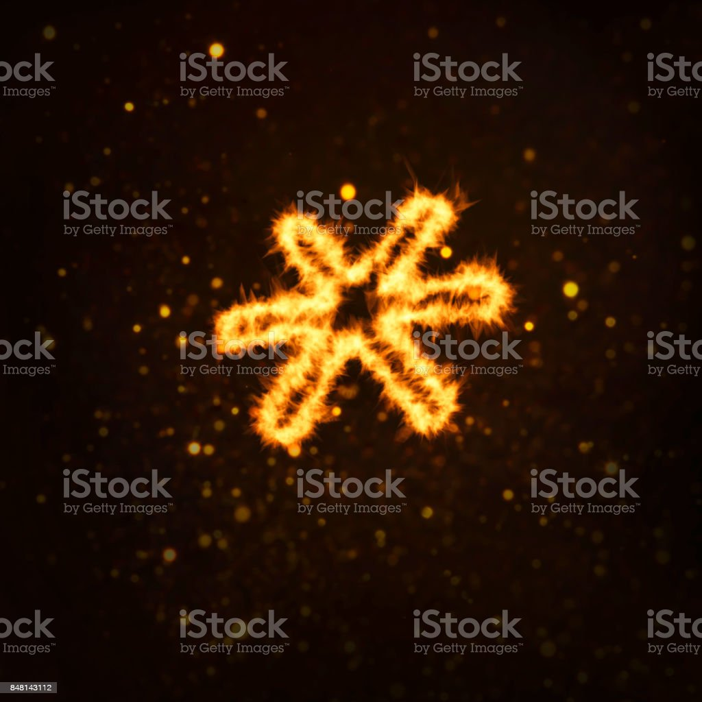 Fire Flames on Black Background. Includes Copy Space - foto stock