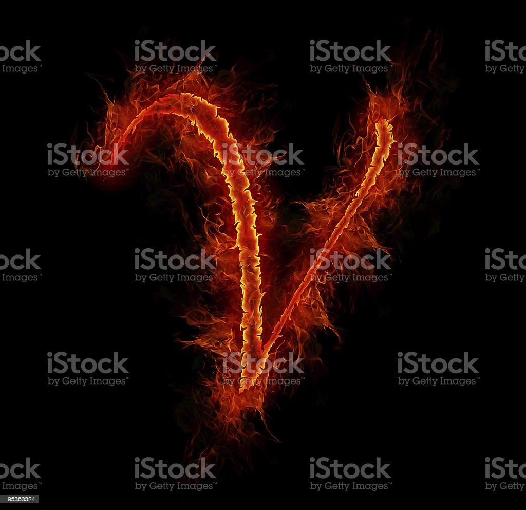 Royalty Free Fire Letter V Pictures, Images and Stock ...