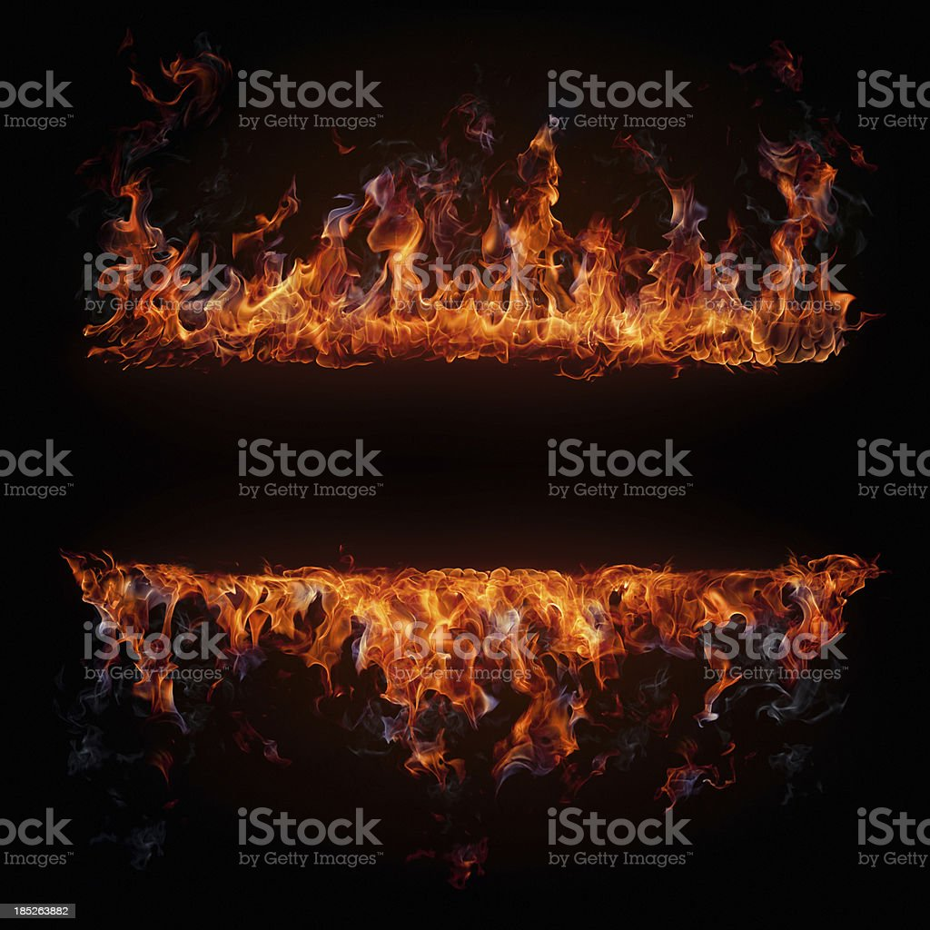 Fire frame stock photo